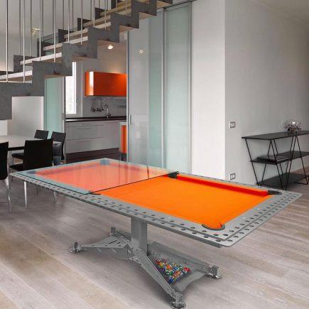 billard-biljart-modern-decotech-drap-orange-oranje