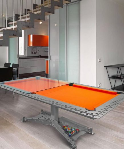 billard-biljart-modern-decotech-drap-orange-oranje