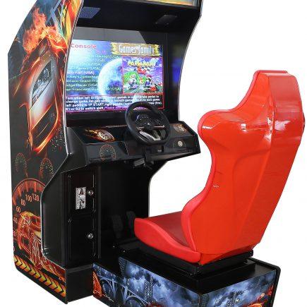 Arcade racing-machine met stoel